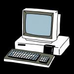 パーソナルコンピュータPC-8001をイメージしたイラスト