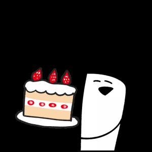 ケーキを持っているイラスト