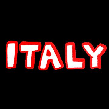 イタリアの文字イラスト