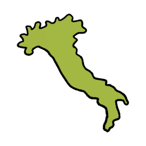 イタリア地図のイラスト
