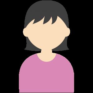 黒髪ショートヘアの女性のイラスト