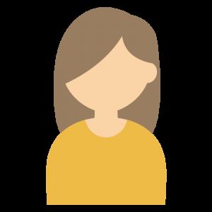 茶髪ロングヘアの女性のイラスト