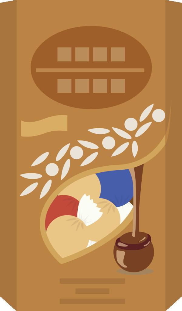 リンツ リンドールチョコレート風のイラスト