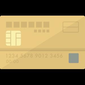 MileagePlusセゾンゴールドカード風のクレジットカードのイラスト