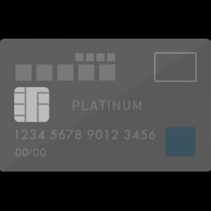 MileagePlusセゾンプラチナカード風のクレジットカードのイラスト