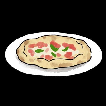 ピザマルゲリータのイラスト