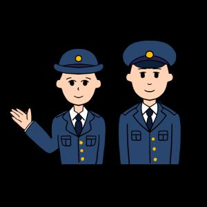 男女の警察官のイラスト