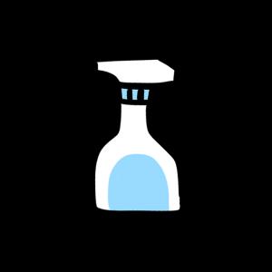 スプレーボトルのイラスト