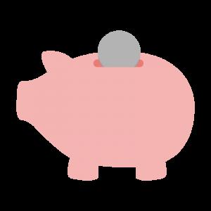 ブタの貯金箱のイラスト