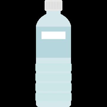 水の入ったペットボトルのイラスト