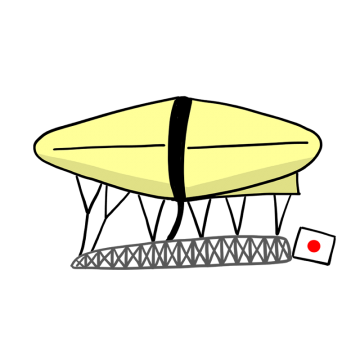 山田式飛行船のイラスト