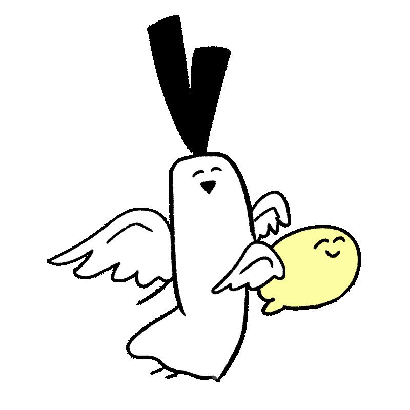 天使のコスプレをしているイラスト