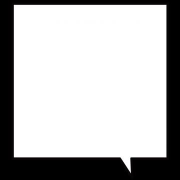 正方形の吹き出しのイラスト
