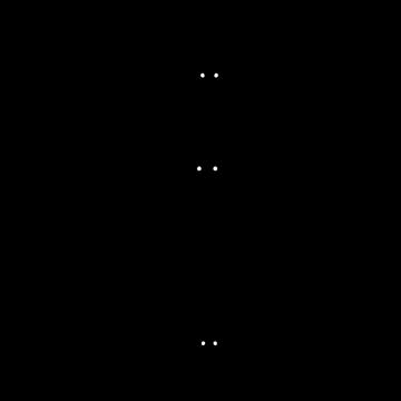 コウモリのシルエットのイラスト