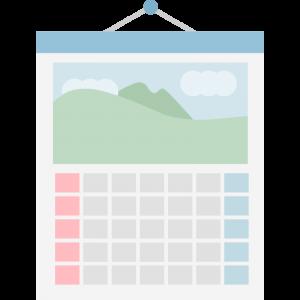 シンプルなカレンダーのイラスト