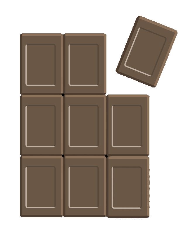 板チョコレートのイラスト