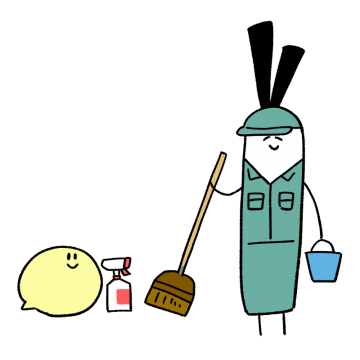 清掃員のイラスト