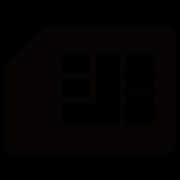 SIMカードのシルエットアイコン