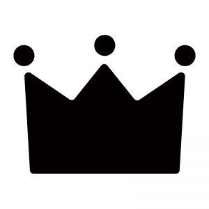 王冠のシルエットアイコン
