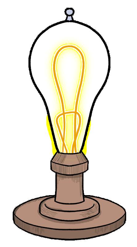 レトロな電球をイメージしたイラスト