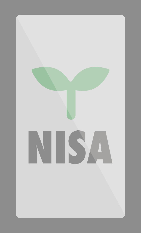 スマホに映るつみたてNISAの画面のイラスト