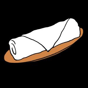 おしぼりのイラスト
