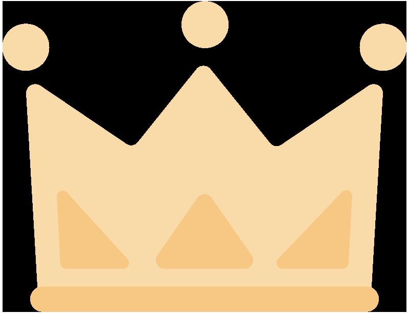 シンプルな王冠のイラスト
