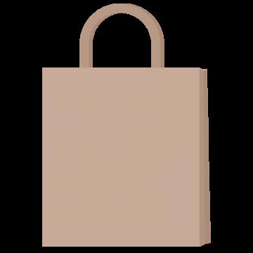 無地の紙袋のイラスト