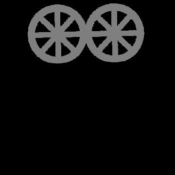 昔の映写機のシルエットのイラスト