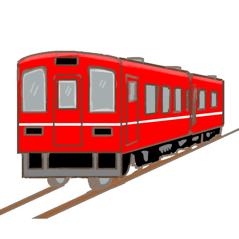 赤い電車のイラスト