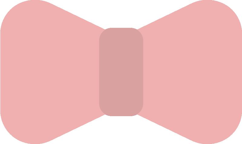 ピンクのリボンのイラスト
