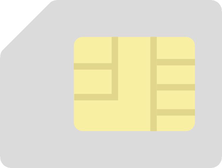 シンプルなSIMカードのイラスト