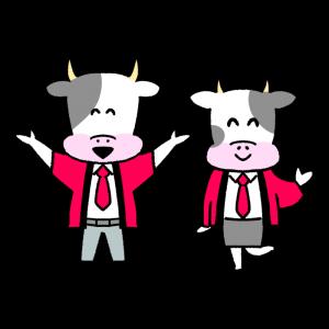 牛の販売員のイラスト