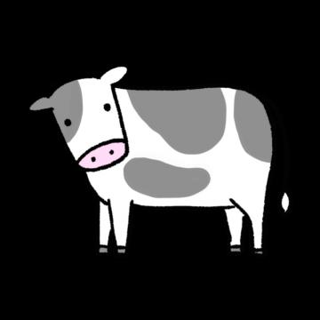 カメラ目線な牛のイラスト