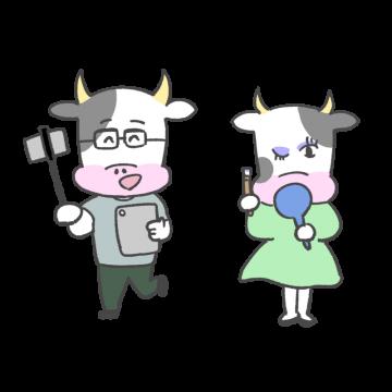 牛のYouTuberのイラスト