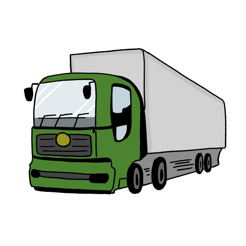 大型トラックのイラスト