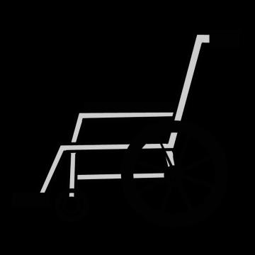 横から見た車椅子のイラスト
