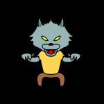 オオカミ男のイラスト