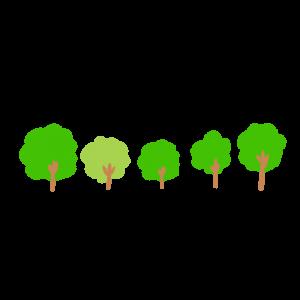 木が並んでいるイラスト