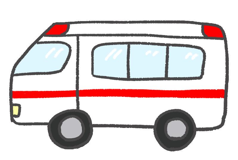 横から見た救急車のイラスト