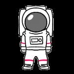 宇宙飛行士のイラスト