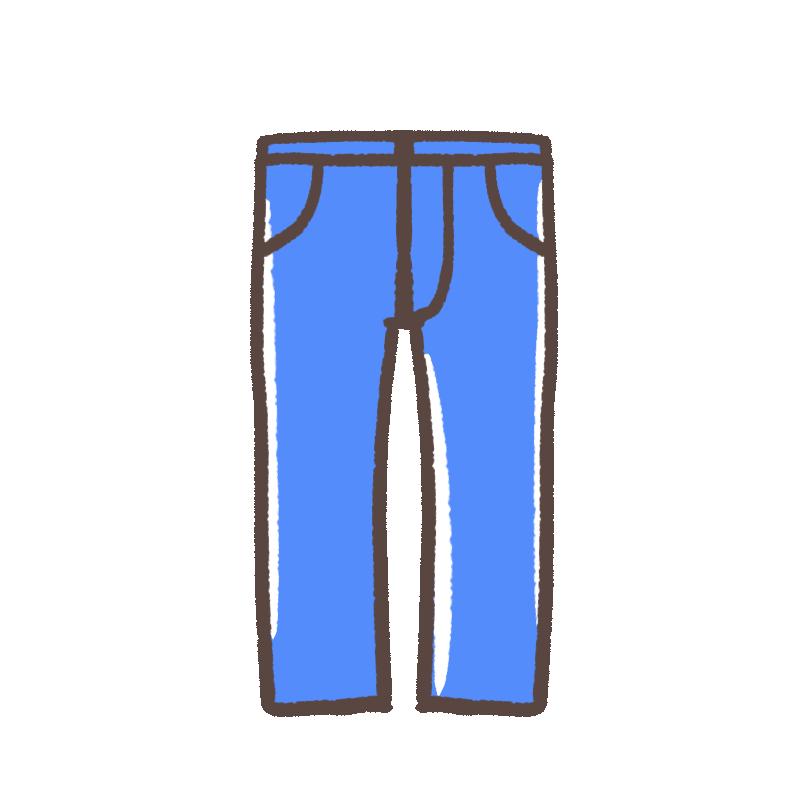 青いズボンのイラスト