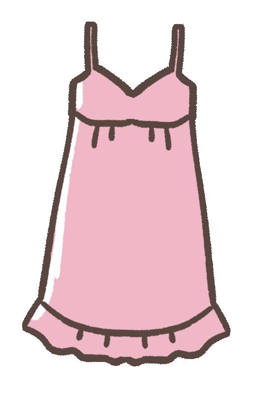 ピンクのキャミソールのイラスト