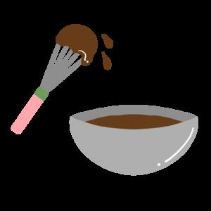 手作りチョコレートを作るイラスト