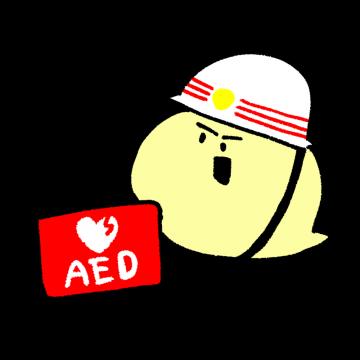 AEDを持っている救急隊員のイラスト
