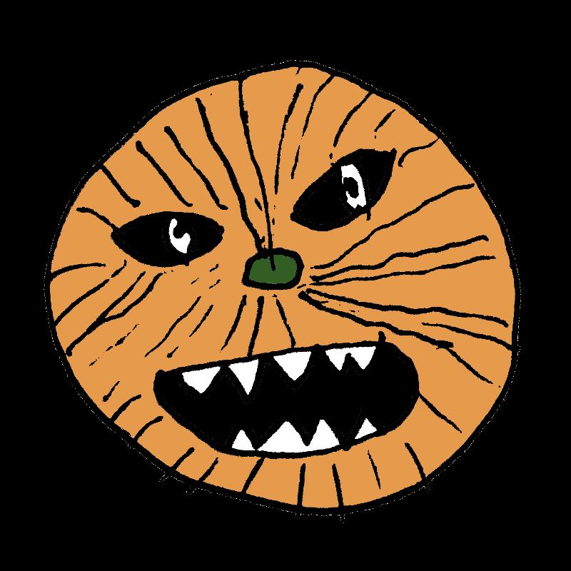 ヘタウマな怖いハロウィンのかぼちゃイラスト