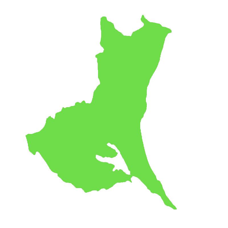 茨城県の地図だけ切り取ったイラスト