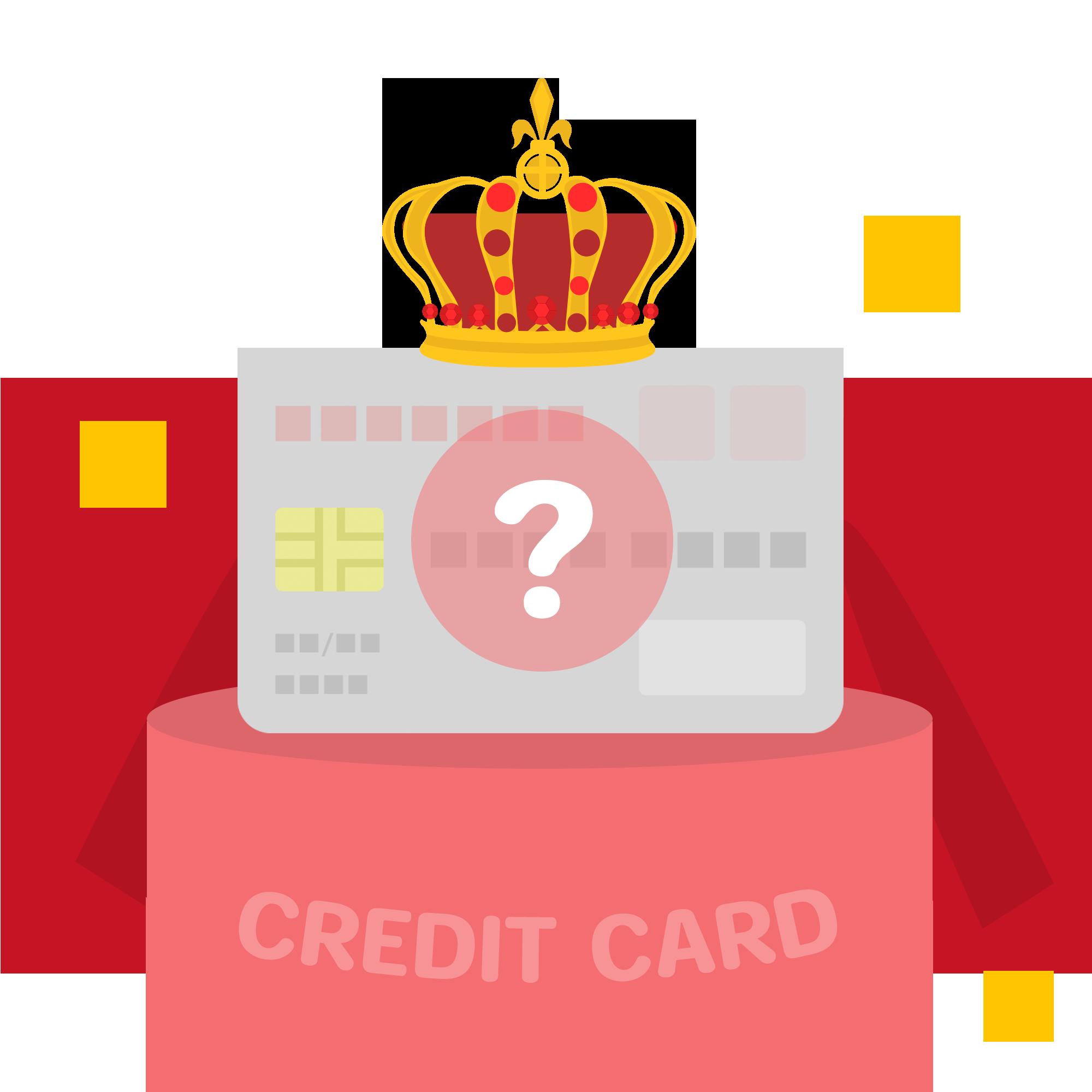 人気クレジットカードのイラスト