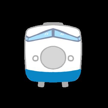 新幹線を正面から見たイラスト