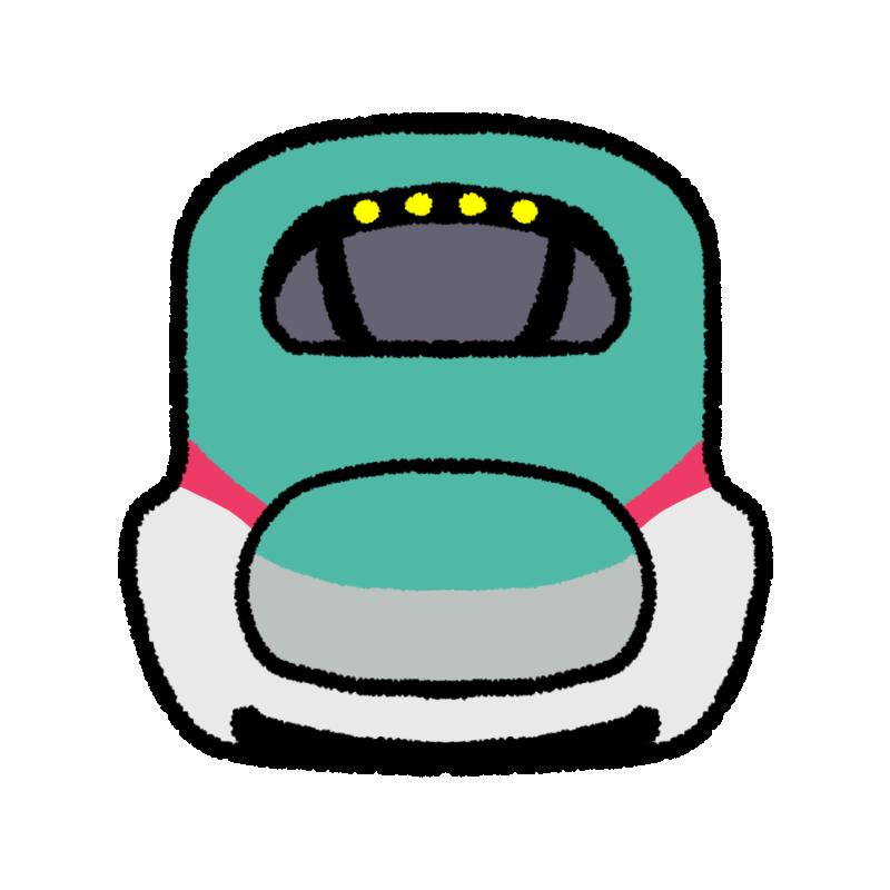 新幹線はやぶさの正面のイラスト